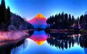 colorful landscapes 14 colorful landscape reflection wallpaper hdfree android