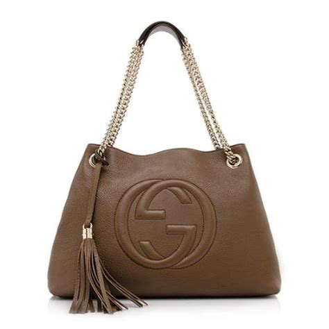 Gucci S36 Gold Drakbrow Leather gucci soho leather shoulder bag brown cuir gold chain handbag new italy luxury sales and