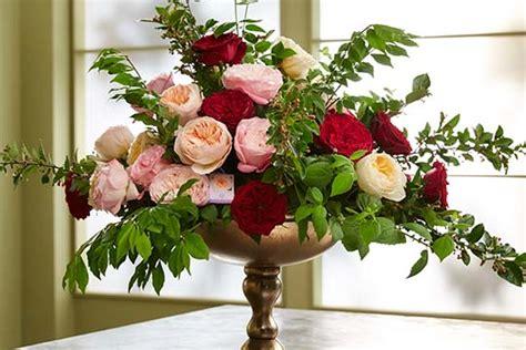 how to arrange flowers how to create a david austin rose arrangement