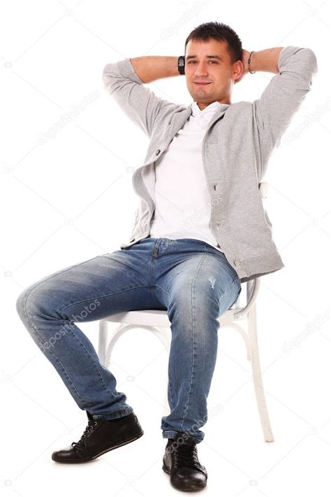 dem stuhl sitting on a sofa stock image models picture