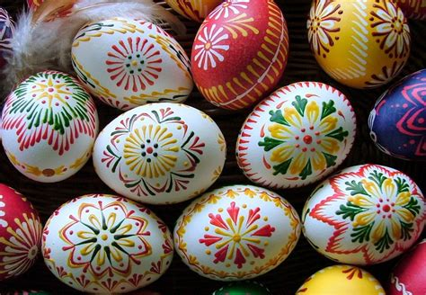 decorating eggs happy easter traditional art of decorating eggs in