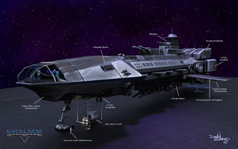 membuat excelsior tipe c excelsior class longsword destroyer ship by spacep0d on