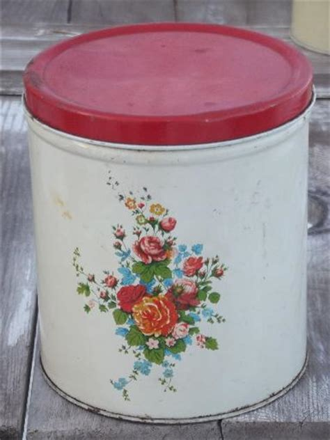 50s vintage metal kitchen canisters pink geraniums canister set vintage metal kitchen canister set hot girls wallpaper
