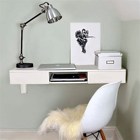 17 Best Ideas About Wall Mounted Desk On Pinterest Wall White Wall Mounted Desk