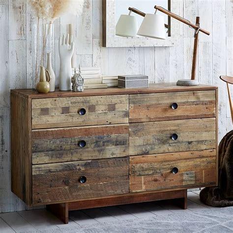 Wood 6 Drawer Dresser by Emmerson Reclaimed Wood 6 Drawer Dresser West Elm