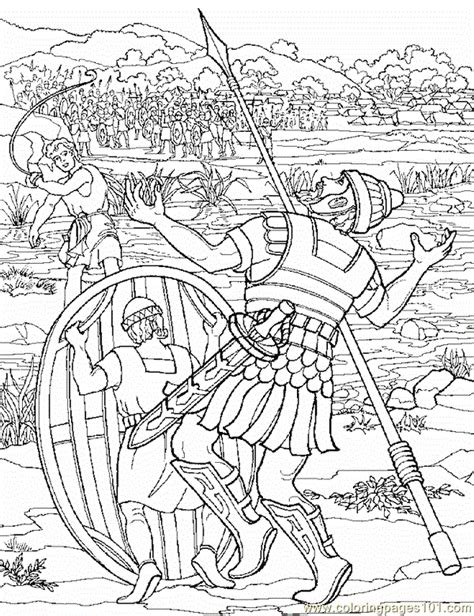 David And Goliath 8 Coloring Page Free Religions David And Goliath Pictures To Color
