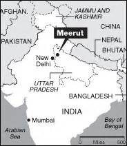 meerut on india map history for civil servises examination indian history