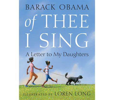 obama picture with book president barack obama of thee i sing a letter to my