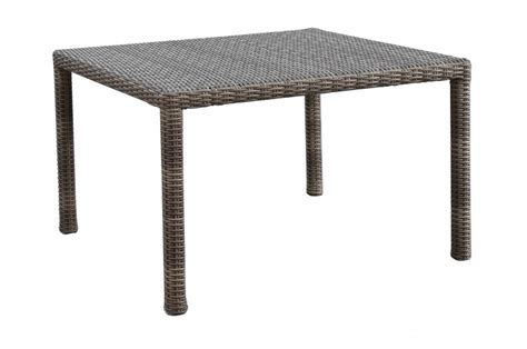 Coronado Dining Table Hedgeapple Gray 48 Quot Square Resin Wicker Dining Table Sunset West Outdoor