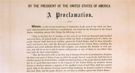 printable version of emancipation proclamation emancipation proclamation copy sells for 2 1m at new york
