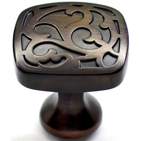 Kitchen Cabinet Knobs Lowes | allen roth aged bronze cabinet pull knob from lowes