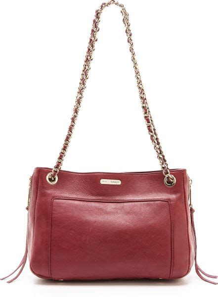 rebecca minkoff swing bag rebecca minkoff swing bag in purple gold lyst