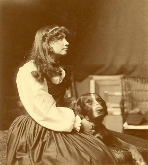 helen dogs helen keller as an adolescent sitting with visit the perkins archives