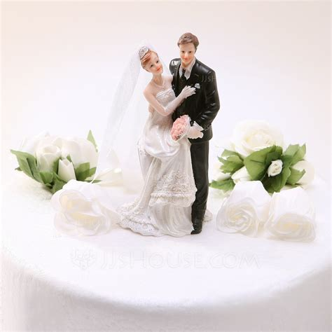 """Sweet Moment"" Resin Wedding Cake Topper (119030557"
