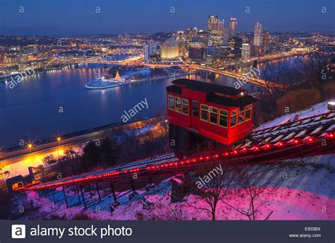 lights duquesne incline cable car mount