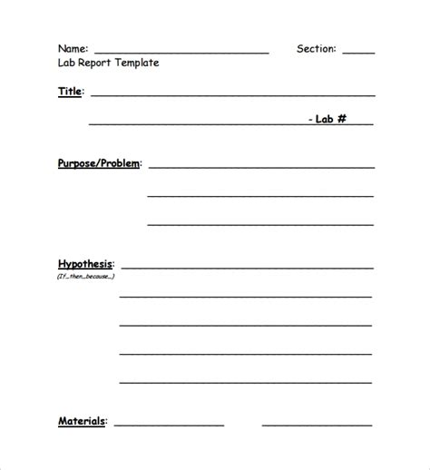 Lab Report Template Word 10 sle lab reports sle templates