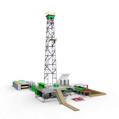 drilling rig image land rig site 1 3d animation oil land oil rig 3d model