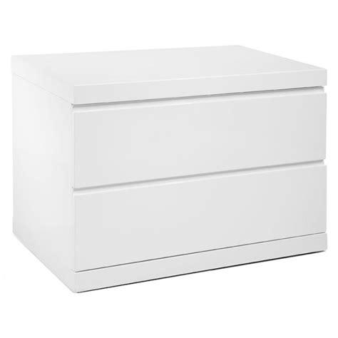 Nightstand White Modern by Aarhus Modern White Large Nightstand Eurway Furniture