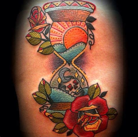 traditional hourglass tattoo hour glass losing days tattoos