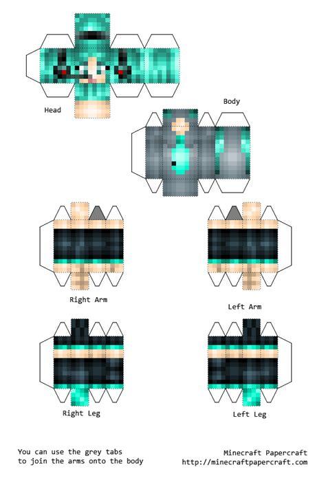 papercraft hatsune miku volcaloid skin