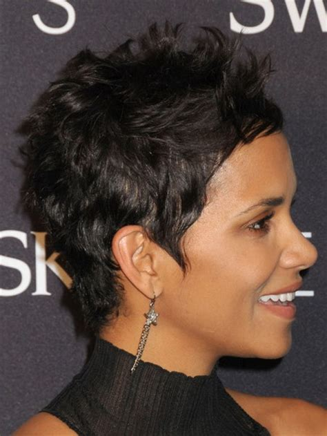 back view of halle berry hair back view of halle berry short stacked haircut short