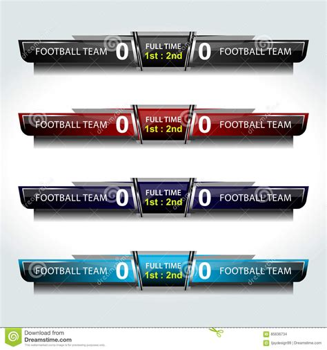 broadcast graphics templates business scoreboard templates sle soccer scoreboard