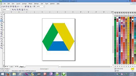 Cara Membuat Logo Google Drive | cara membuat logo google drive menggunakan coreldraw