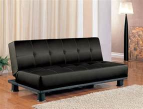 Futon Sofa Futon Sleeper Sofa Bed Vinyl Leather Finish Ebay