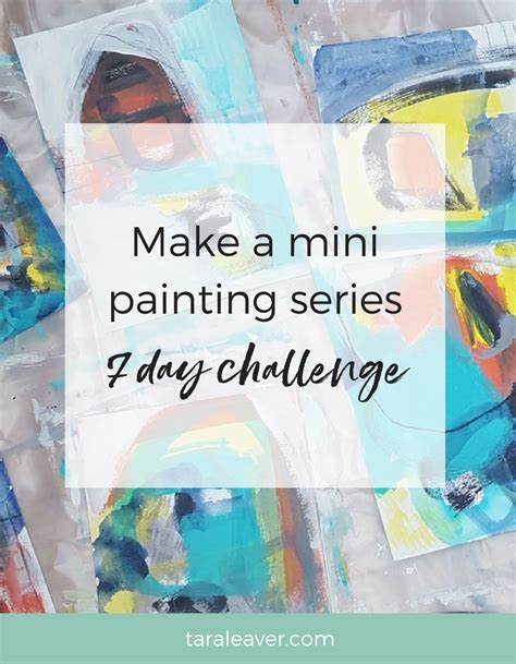Make A Mini Book Challenge make a mini painting series the 7 day challenge is back