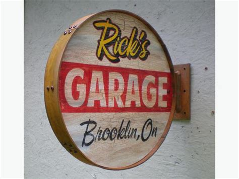Garage Sign by Personalized Vintage Retro Style Garage Signs Outside