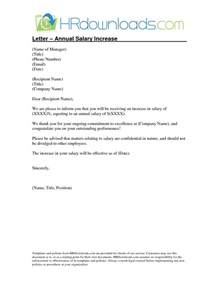Hr Raise Letter Salary Increase Letter To Employee The Letter Sle