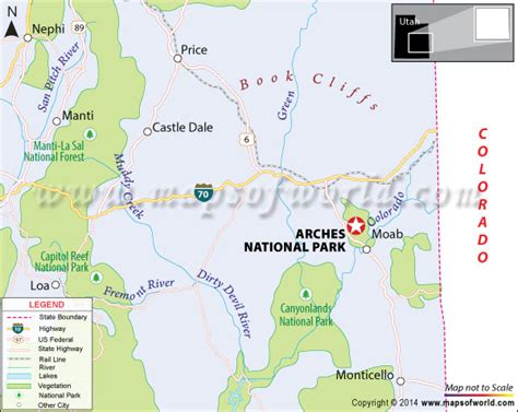 arches national park map arches national park utah map where is facts best time to visit