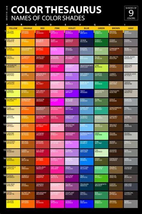 colour shades with names color shades names poster graf1x com