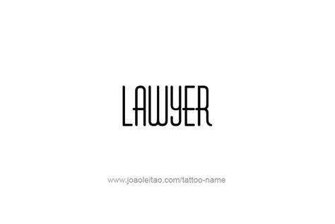 lawyer logo fonts lawyer profession name designs tattoos with names