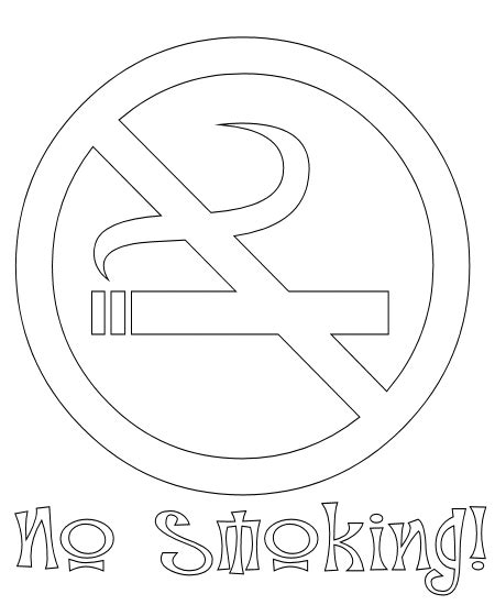 With Smoke Cigarettes Coloring Pages
