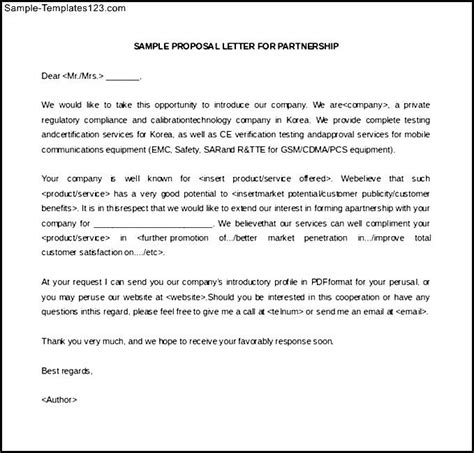 Exle Business Letter For Partnership Sle Of Business Letter Of Intent In Business Partnership Sle Templates