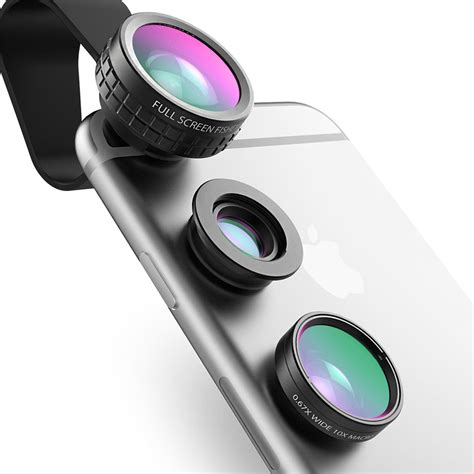 aukey fish eye lens 3in 1 clip on cell phone 180 degree fisheye lens wide angle macro