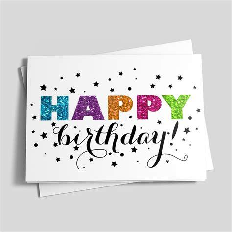 Birthday Glitter Cards Glitter Starry Birthday Birthday Cards From Cardsdirect