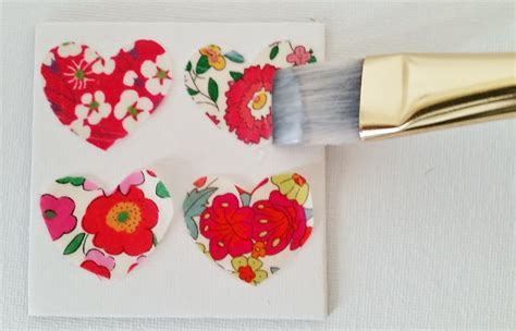 Decoupage Fabric On Canvas - fabric scrap mini canvas tutorial mad for fabric
