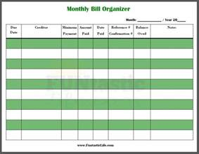 home finance bill organizer template free printable monthly bill organizer funtastic