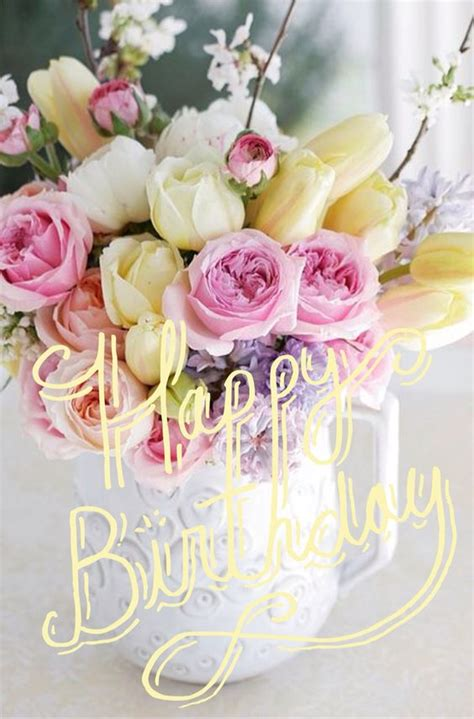 imagenes de happy birthday with flowers happy birthday flowers images and cards for facebook