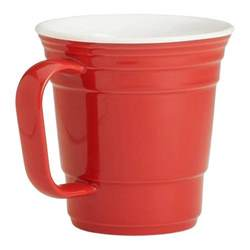 coffee mugs red party cup ceramic coffee mug the green head