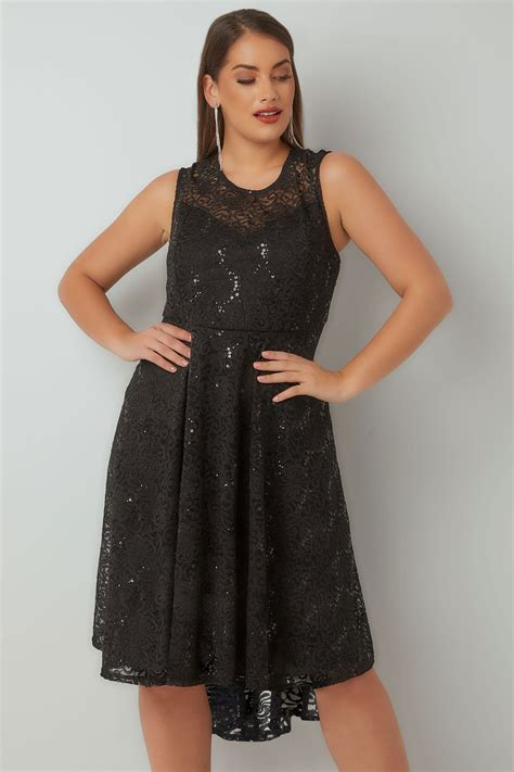 Modell S Gift Card Balance Check - black sequin embellished dress with curved hem plus size 16 to 36