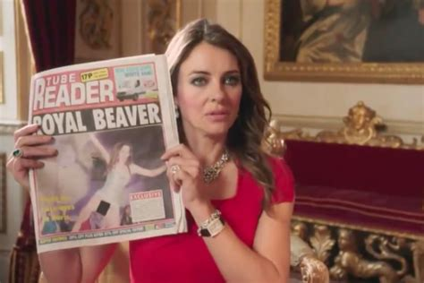 Drama In Liz Hurleys by Liz Hurley Strips In The Royals And Must Be Sexiest