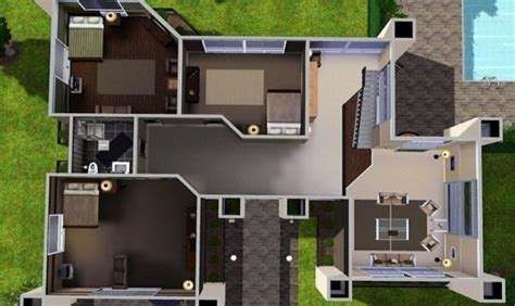 sims 3 modern house floor plans modern sims 3 house plans inspirational 20 simple sims 3