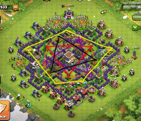 layout for town hall 8 town hall 8 defense layout www pixshark com images