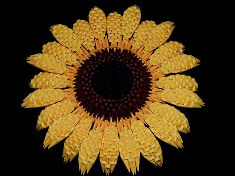 3d Origami Sunflower - 1000 images about my 3d origami collection on