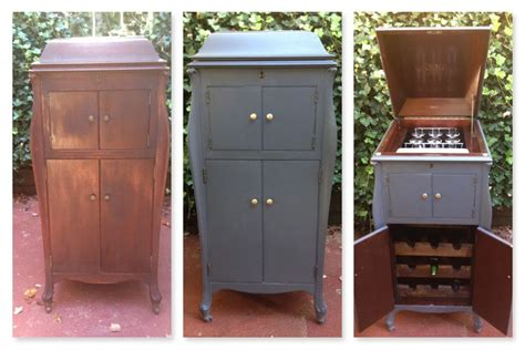 repurpose old furniture before and after of antique victor victrola phonograph