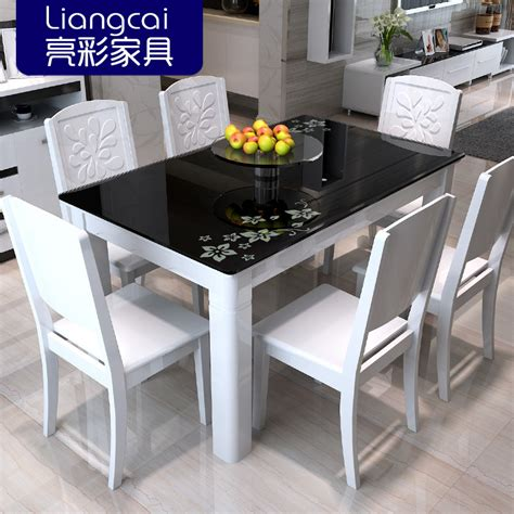Coloured Dining Tables And Chairs Bright Color Combination Of Black Glass Dining Tables And Chairs Painted Wood Dining Table