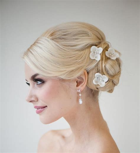 Silk Flowers Hair Wedding by Silk Flower Hair Pins Bridal Hair Pins Wedding Hair Pins